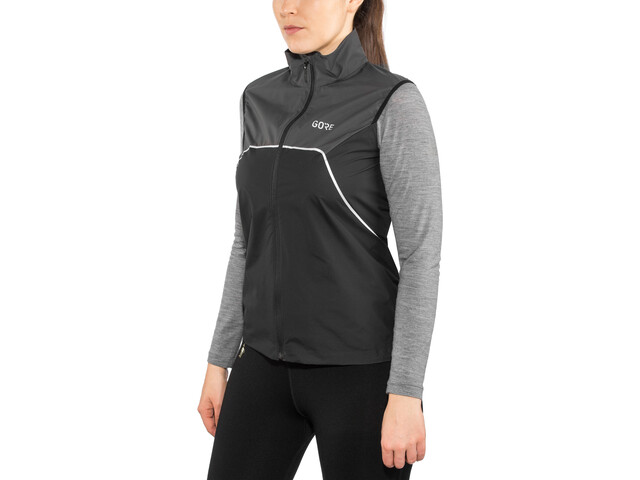 GORE WEAR R7 Partial Gore-Tex Infinium Chaleco Mujer, black/terra grey